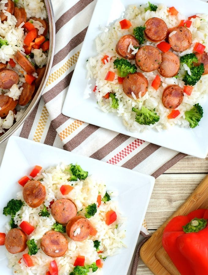 One Pan Andouille Sausage and Rice Recipe