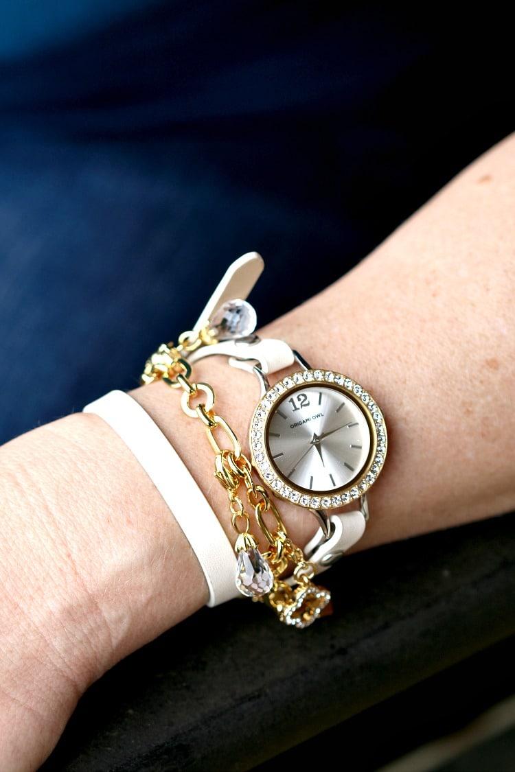 Origami Owl Leopard LEATHER Wrap Bracelet, Black Crystals Face ... | 1125x750