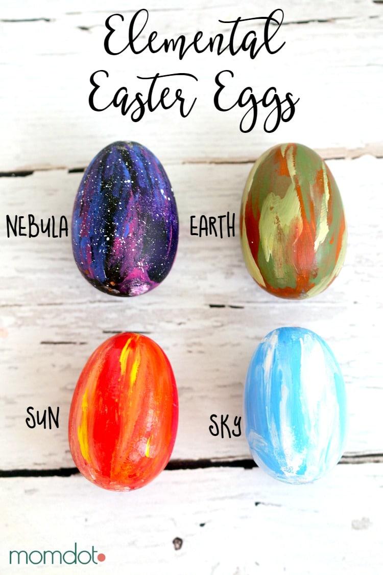 Elemental Easter Eggs: Easter Egg Decorating with a Nebula Egg, Sun Egg, Sky Egg and Earth Egg