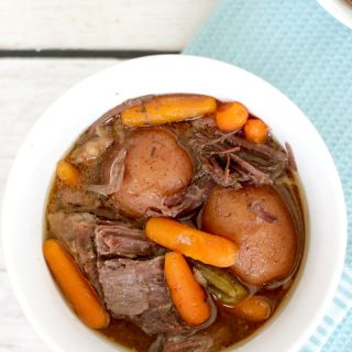 Easiest Pot Roast you will ever make: Roast with fresh potatoes, carrots, and spices. It does the work so you dont have to