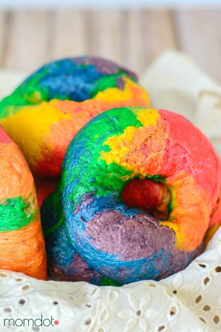 How to make Rainbow Bagels