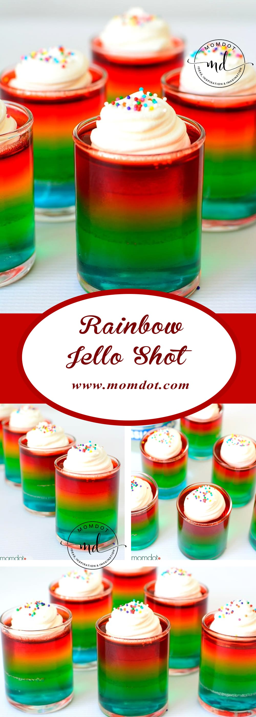How long does it take to make rainbow jello shots with alcohol