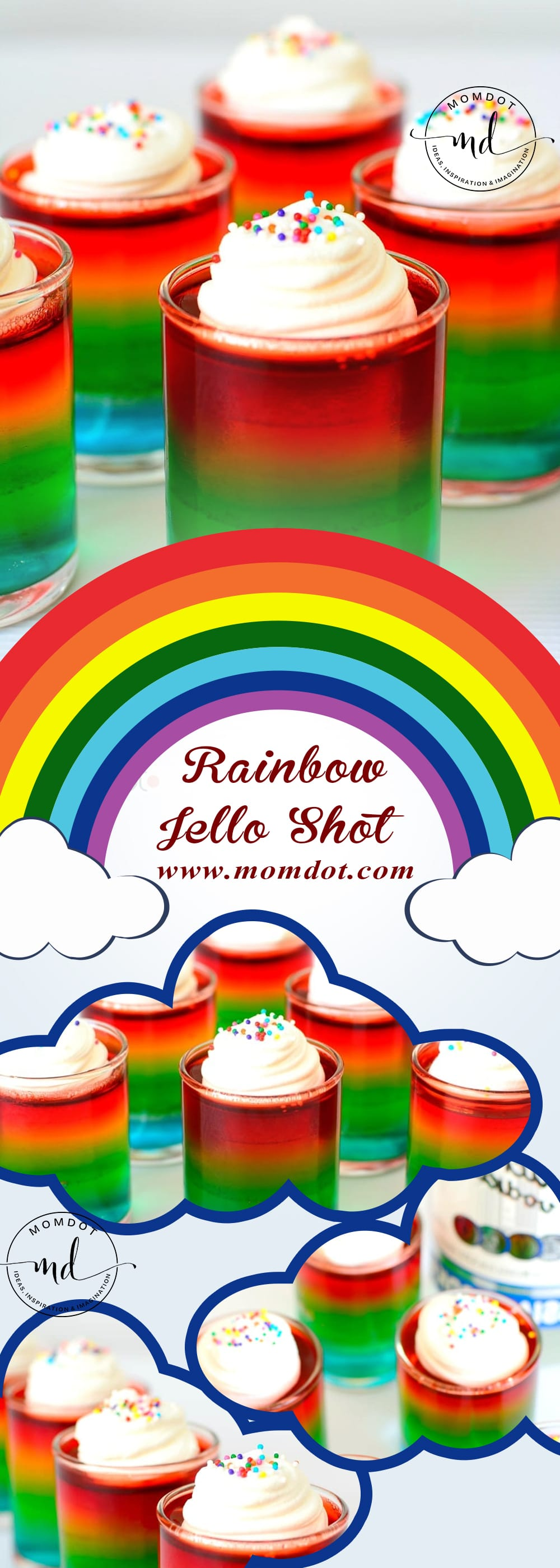 How To Make Rainbow Jello Shots -