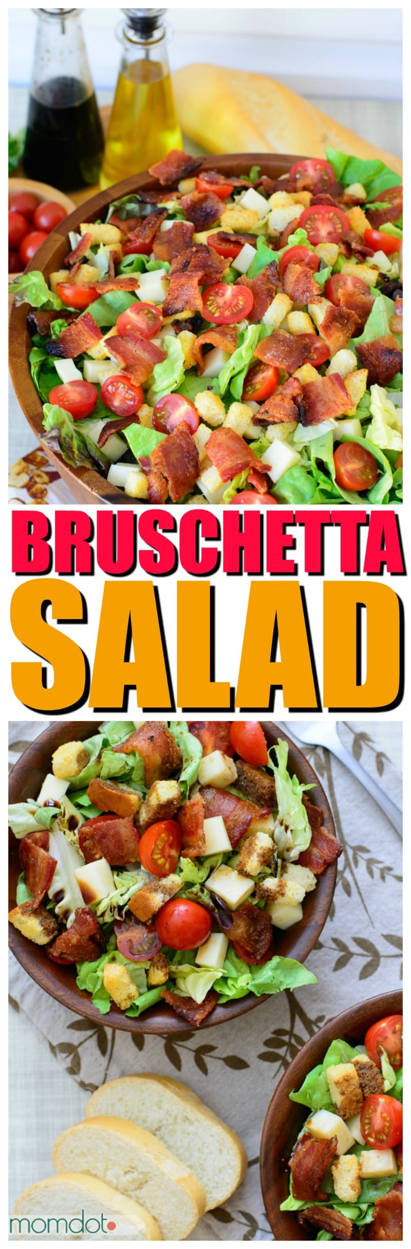 Bruschetta salad : Easy Delicious Veggie Dinner or Side dish Option | Best Salad Option | #salad #recipes #saladbowl #saladrecipes