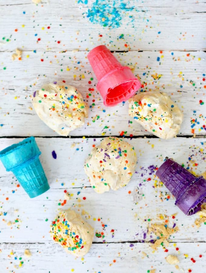 Edible Peanut Butter Play dough ( DIY with Frosting, Powdered Sugar and Peanut Powder) Smells delicious, Kid Friendly
