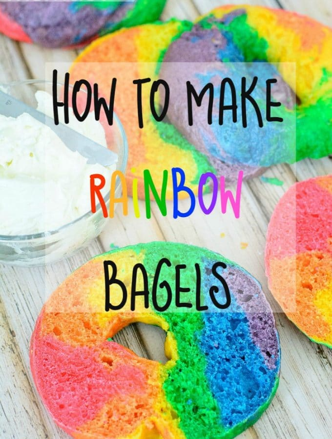 Rainbow Bagels Recipe: How to make a Rainbow Bagel!