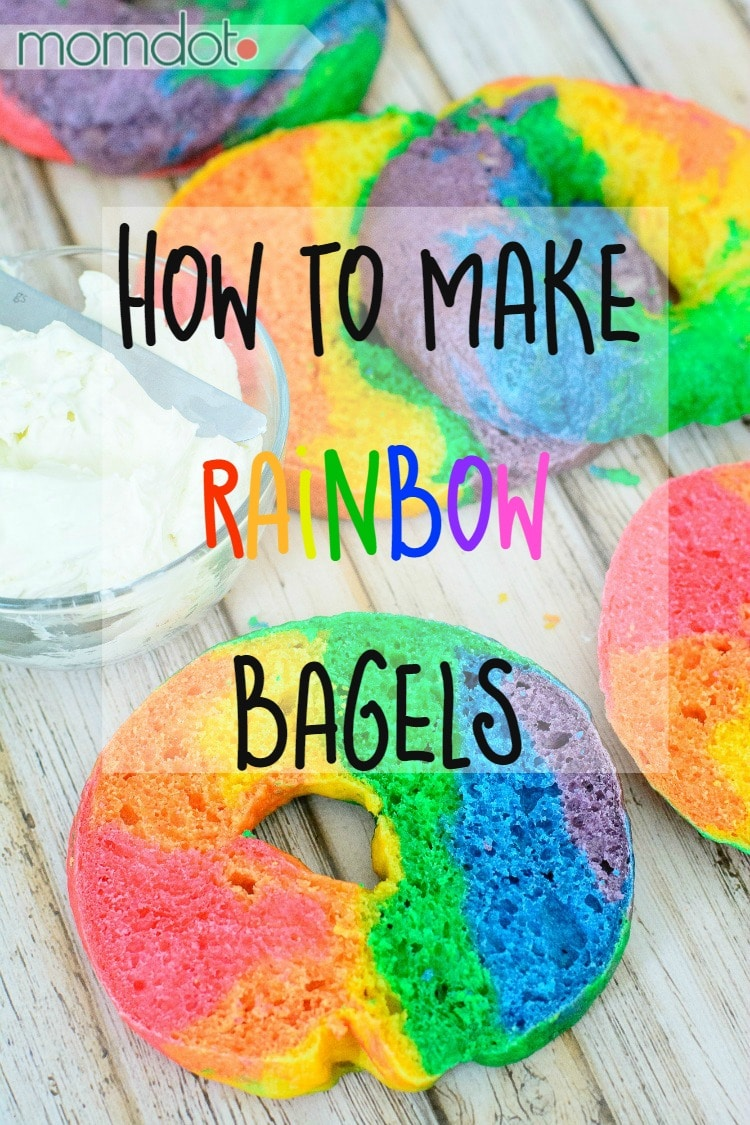 Rainbow Bagels Recipe How To Make A Rainbow Bagel
