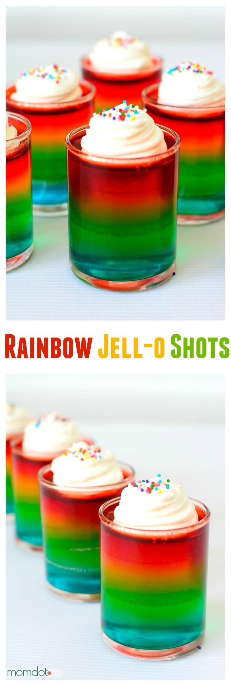 how to make rainbow jello shots