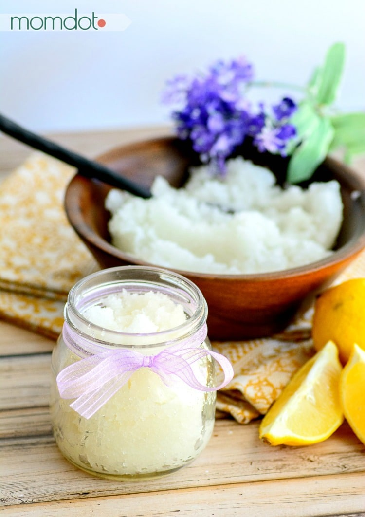 4 Lavender Sugar Scrub Recipe ideas! Lemon & Lavender Sugar Scrub Recipe : You will never buy store bought scrub against once you make your own natural scrub at home!