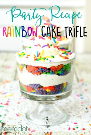 Rainbow Cake Trifle Recipe: Gorgeous and delicious way to celebrate with this layered Rainbow Trifle cake, beautiful display and even more fun to eat