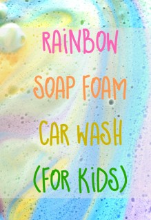 Rainbow Soap Foam Car Wash