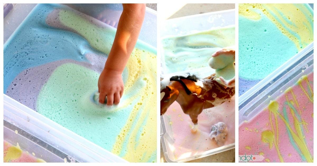 Rainbow Soap Foam Car Wash
