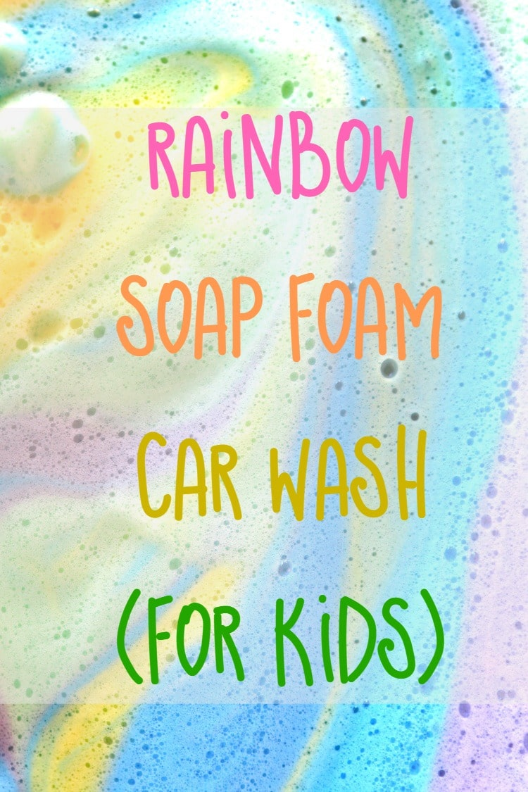 Rainbow Soap Foam Car Wash: Sensory Activity for Toddler and Kids, 3 minute solution for an hour of fun