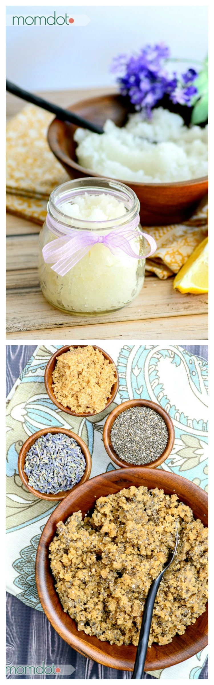 4 Lavender Sugar Scrub Recipe Ideas! Brown Sugar, Lavender and Chia Scrub Recipe: Never buy store bought scrub again!