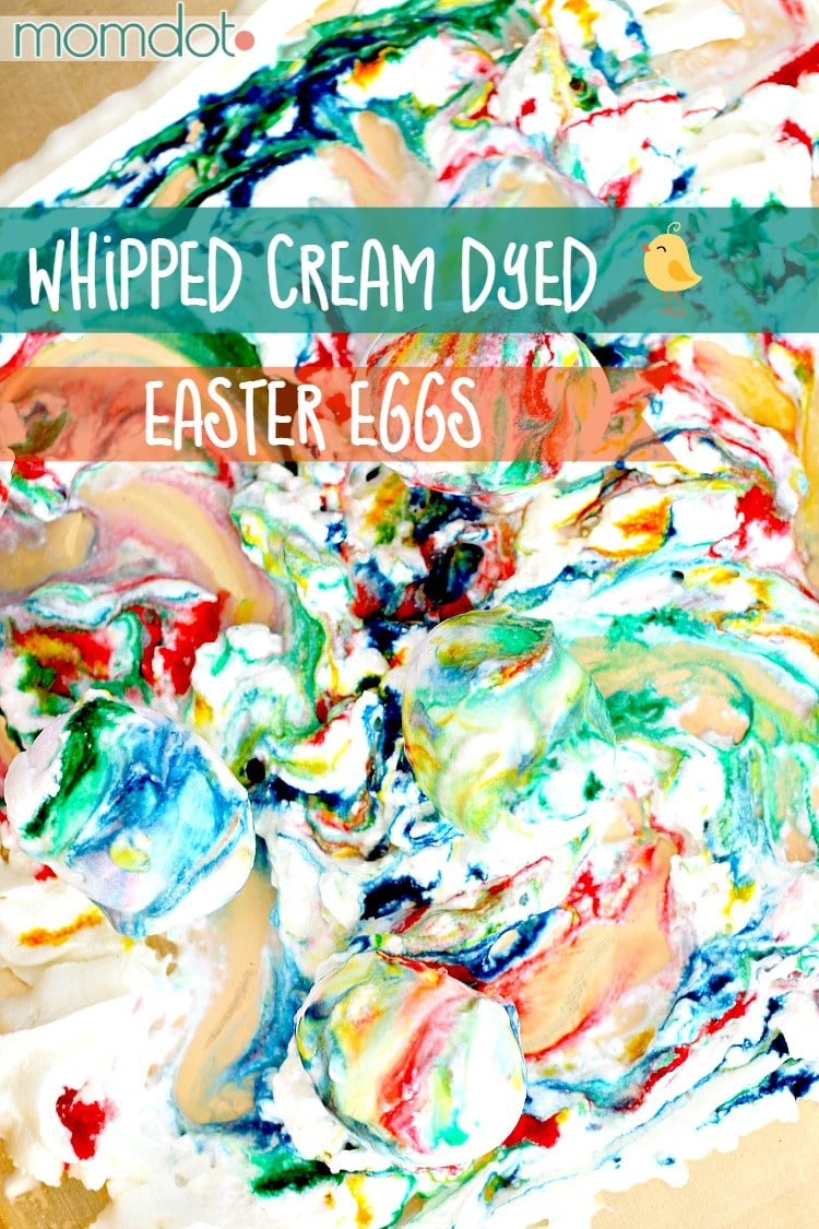 Whipped Cream (not shaving cream) Dyed Easter Eggs: A full Easter Egg Dying Experience for Children (that is safe to eat)