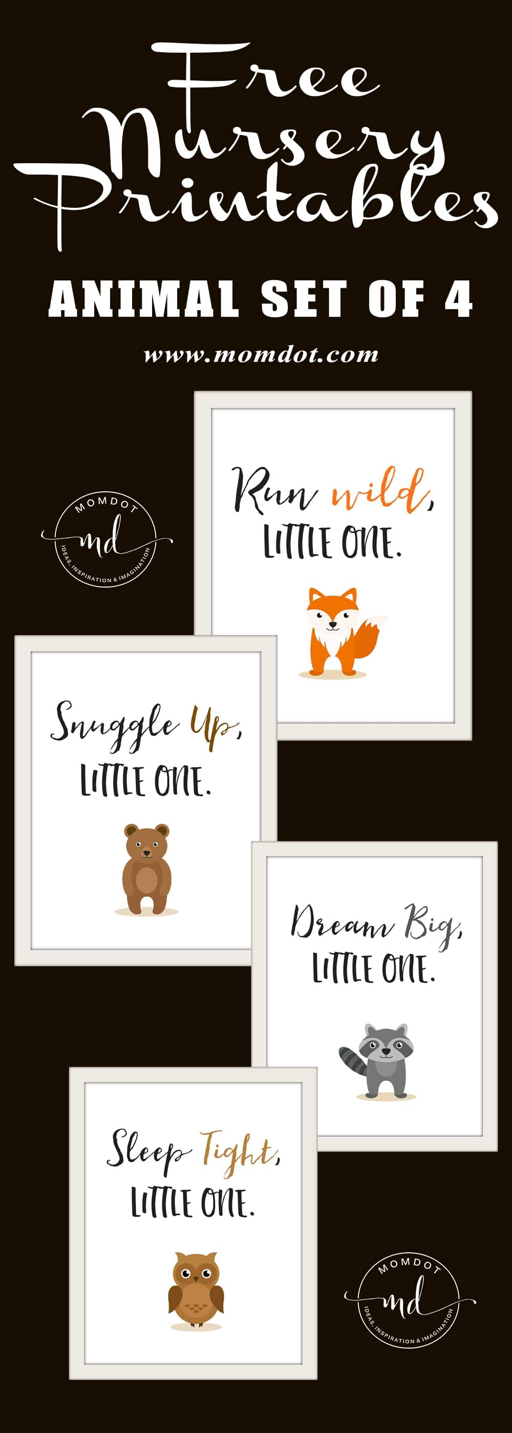 image regarding Would You Rather Cards Printable identified as Absolutely free Nursery Printables: Animal Fixed of 4 -