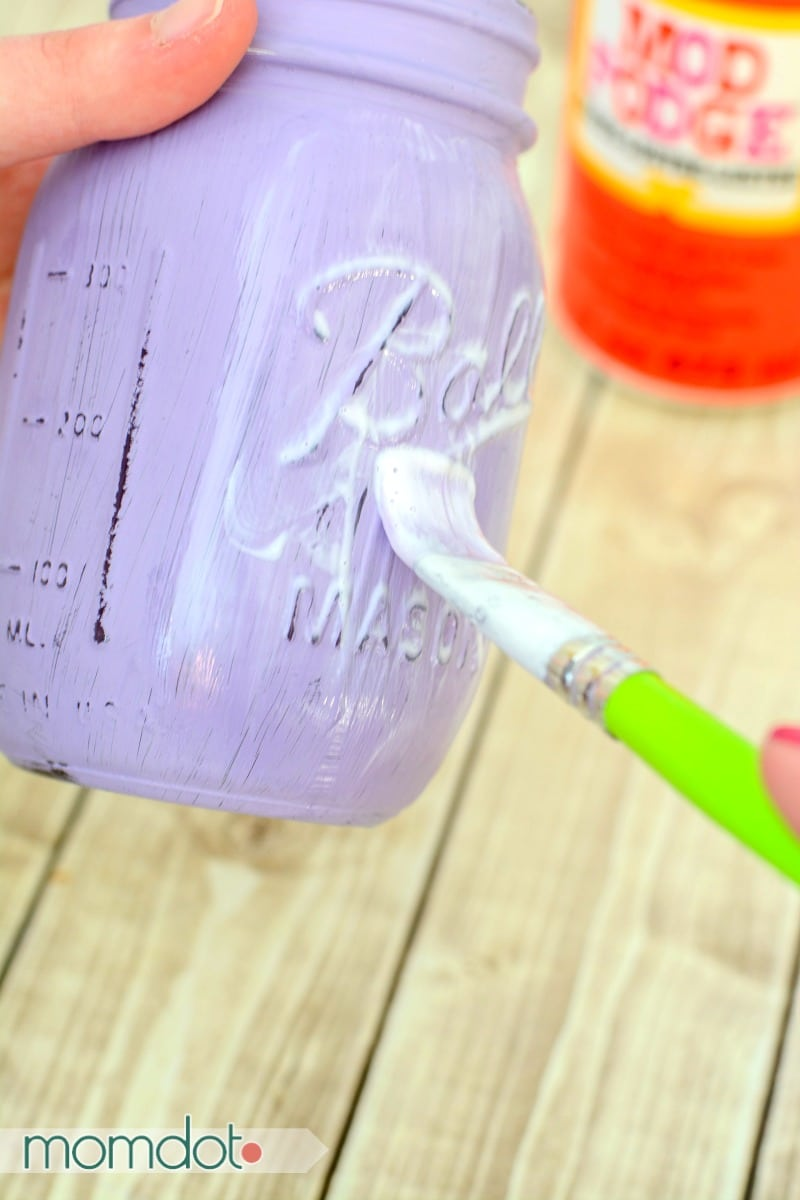 Diy painted mason jars tutorial for Fast drying paint for crafts