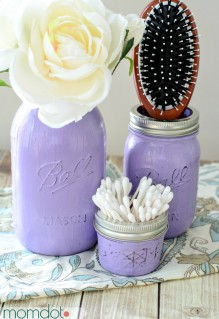 DIY Painted Mason Jars Tutorial