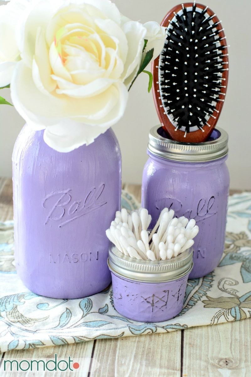 Vintage Painted Mason Jars DIY Perfect for Mason Jar Storage Bathroom Decor or Kitchen
