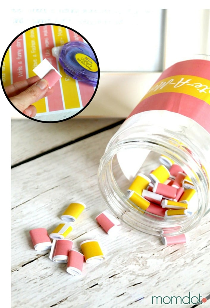 """Free Mothers Day Printable """"Create a Memory"""" jar Tutorial"""