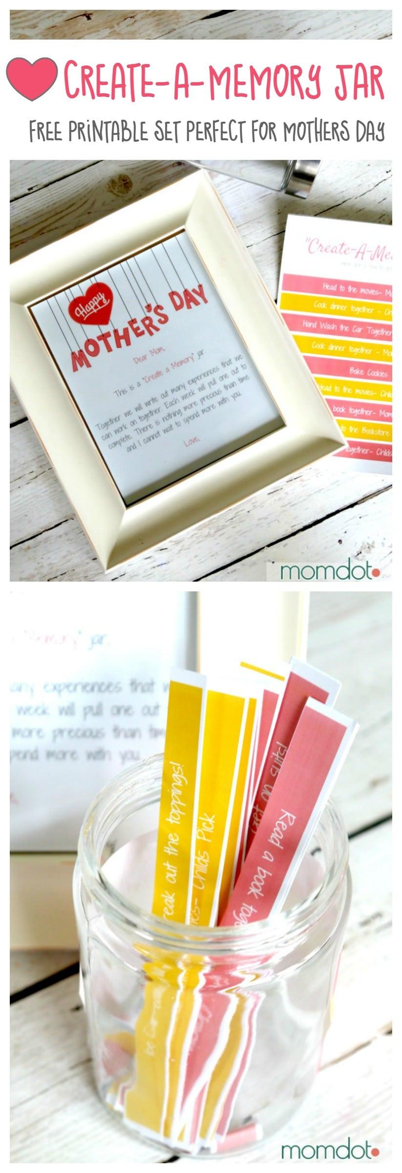 Free Printable: Create a Memory Mason Jar idea, with full set of free printables to bring this fun memory and activity jar to life.