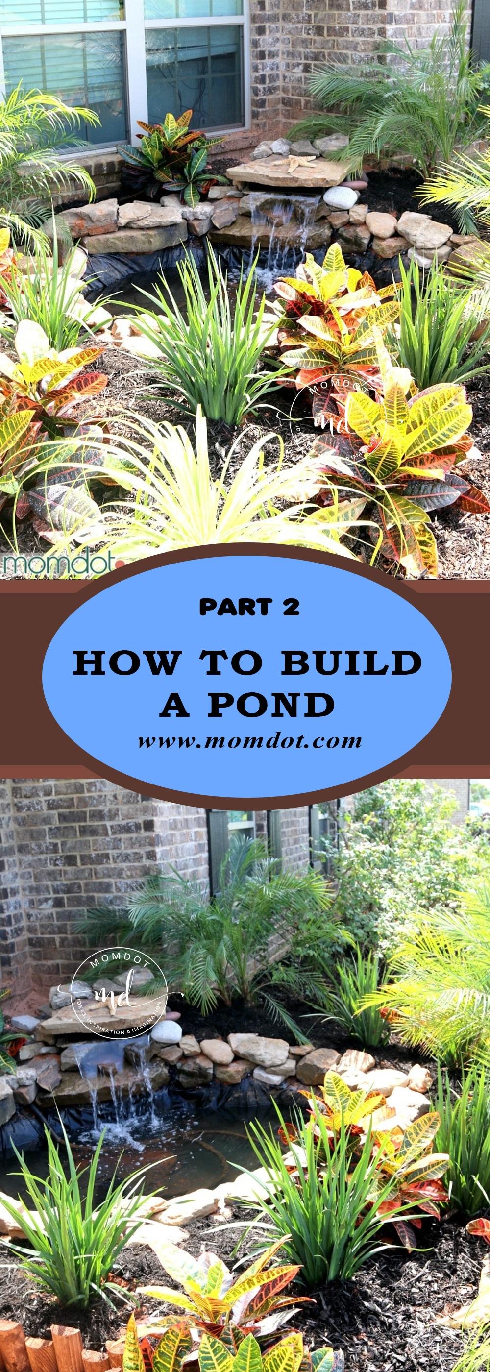 Build a Pond DIY on Front Yard Pond id=50392
