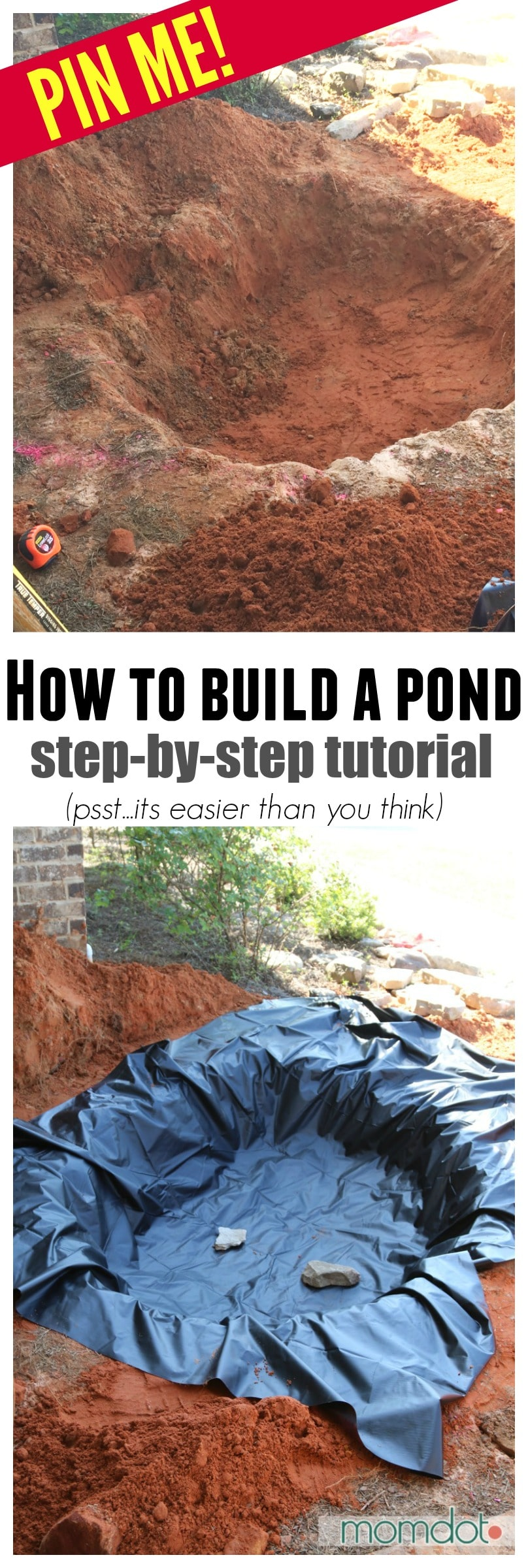 How to build a pond and waterfall for Building a koi pond step by step