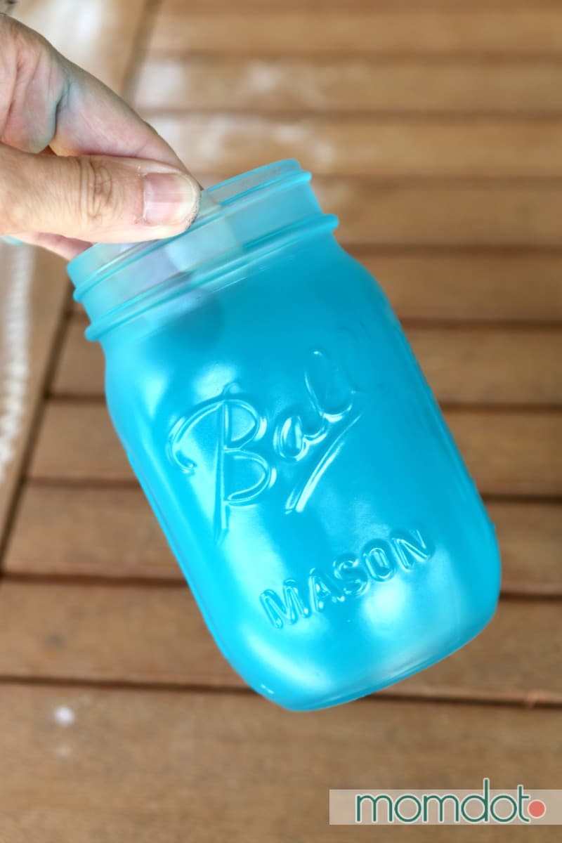 Mason Jar seaglass, how to make your mason jar into seaglass in under 5 minutes