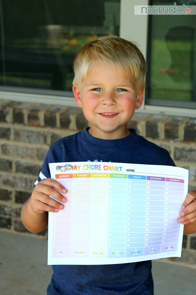 CHORE CHART: Free Printable chore chart to get your kids on track all summer long with personal responsibility, goals and independence. FREEBIE! Great download to laminate and use over and over again