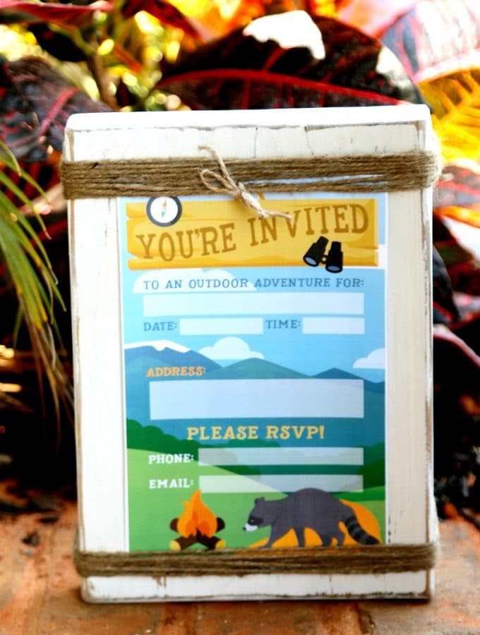 Camping Birthday Party Invite: Free Printable