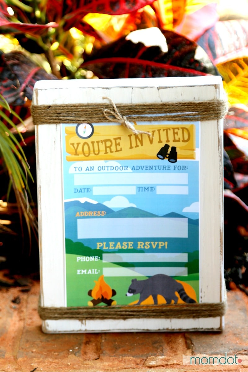 Camping Birthday Party Invite Free Printable
