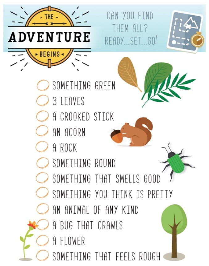 free printable scavenger hunt for kids momdot