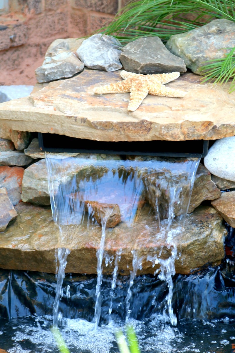 Build a pond diy for Diy small pond with waterfall