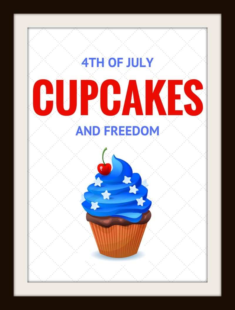 picture about Printable Cupcakes identified as July 4th Free of charge PRINTABLE: Cupcakes and Flexibility -