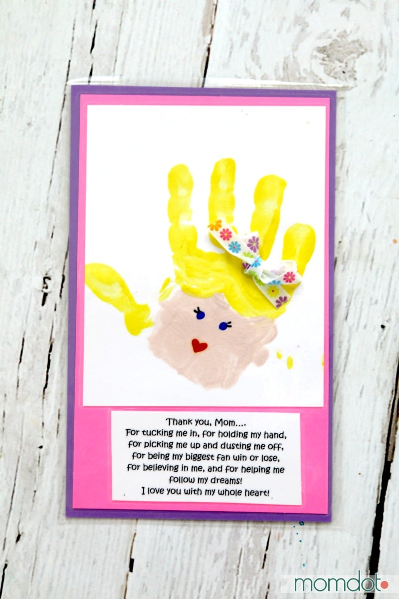 Mothers Day Hand Print Art