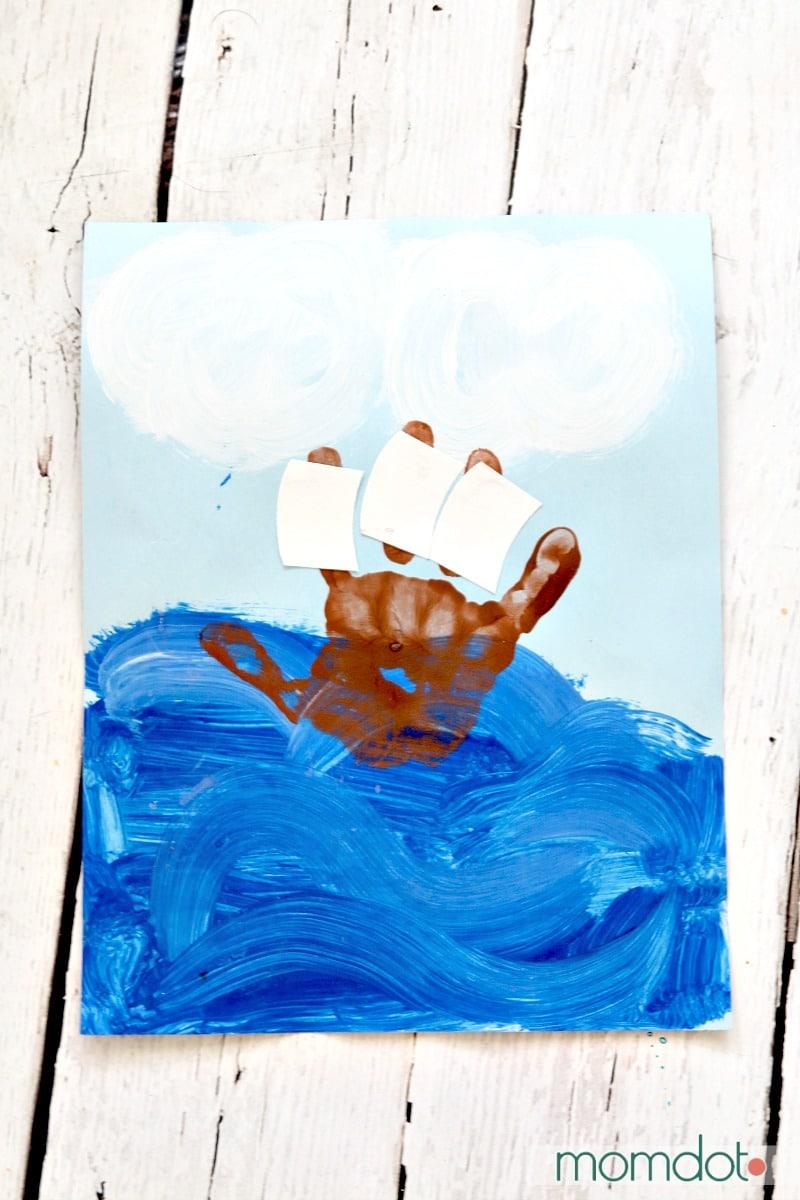 Christopher columbus Handprint kids activity