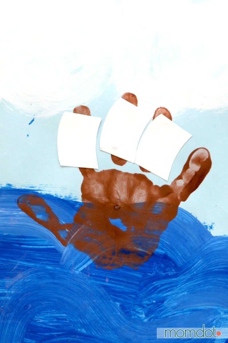 christopher columbus Handprint kids activity