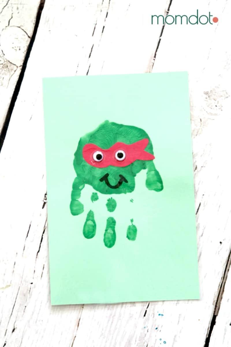 Ninja Turtle HandPrint Card