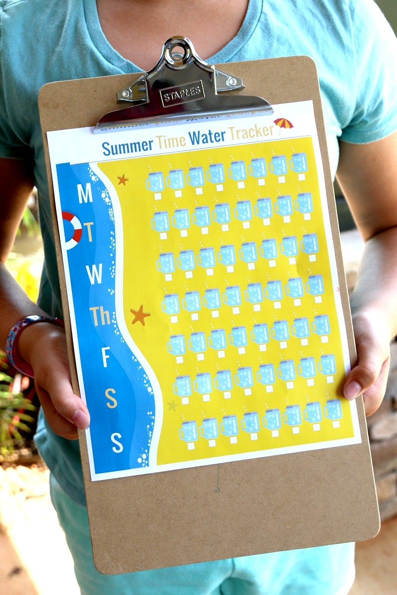 Water Tracker: Free Printable Water Tracker, Get the kids excited to drink water and Beat the summer heat