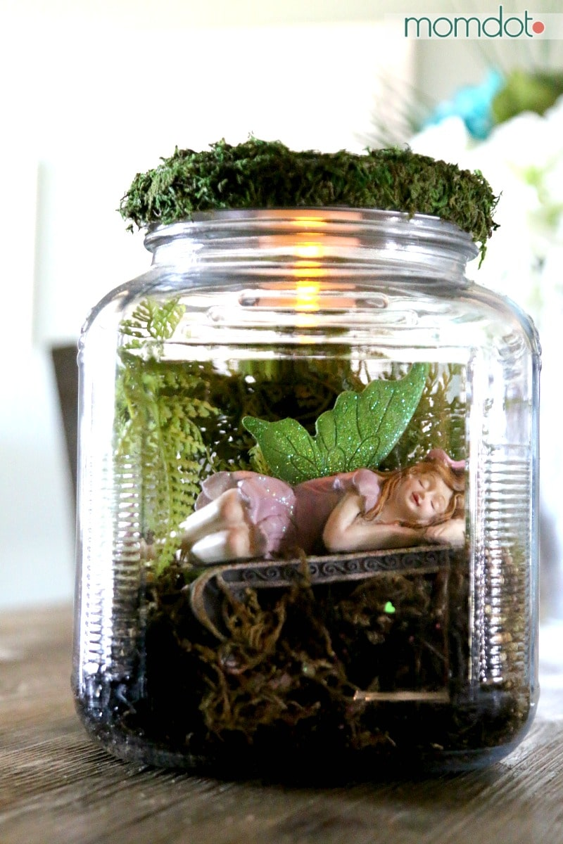 DIY Mason Jar Fairy Garden adorable