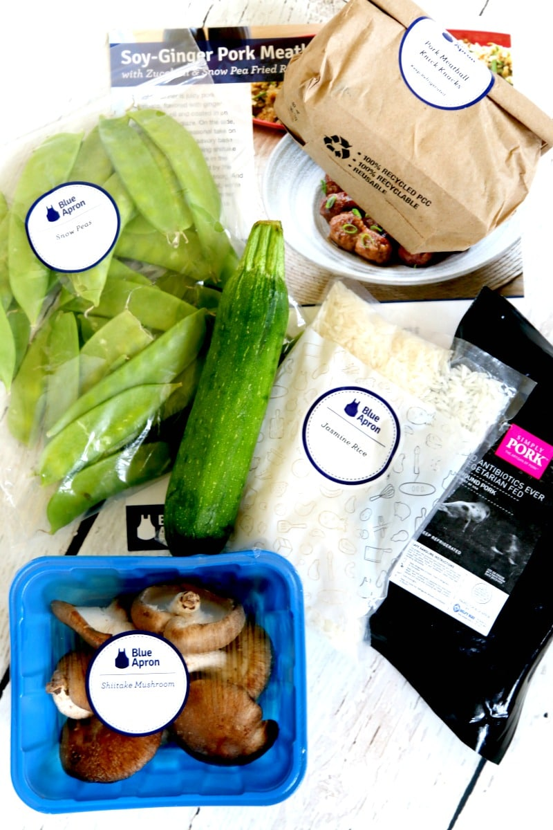 Blue Apron helps busy families cook home cooked meals and seasonable fresh recipes, send fully measured out and fresh vegis right to your door, GREAT gift for a new mom