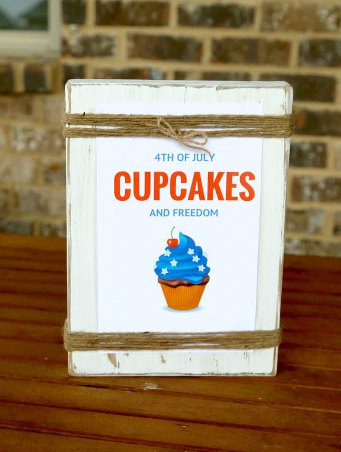 July 4th FREE PRINTABLE: Cupcakes and Freedom
