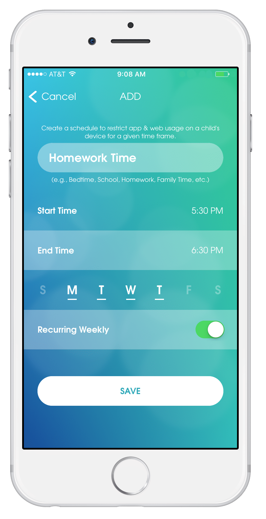 OurPact - Teaching Responsibility Through Technology, a parental control app to help regulate online usage for children, including rewards, ability to block usage, schedules, how to deal with bullies and more