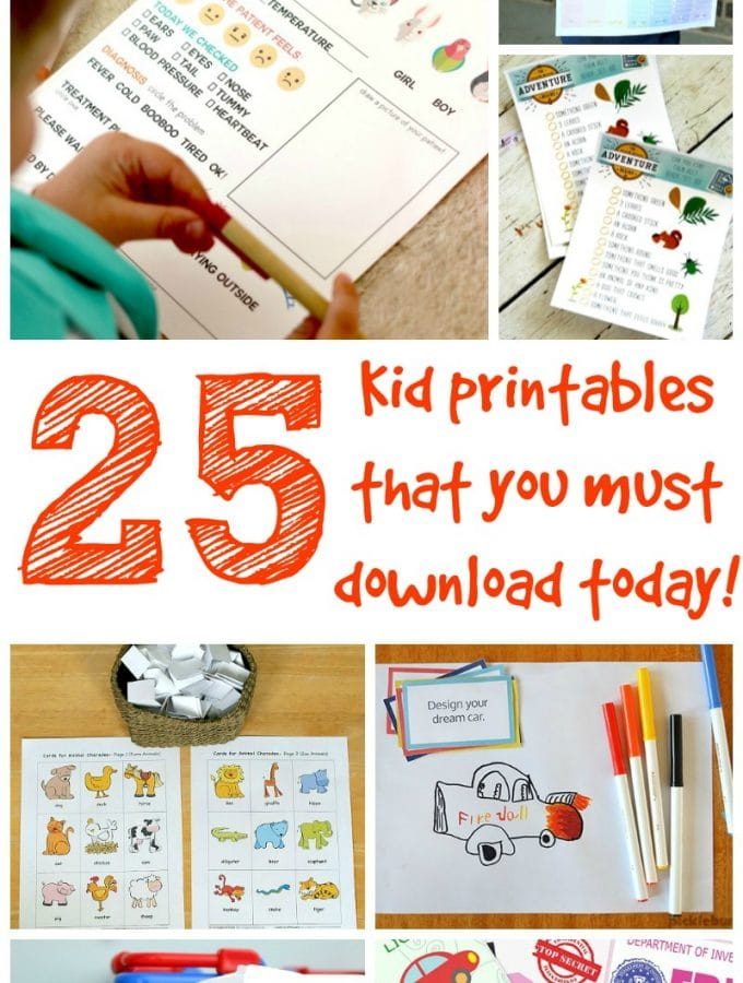 Kid Printables You MUST Download Today