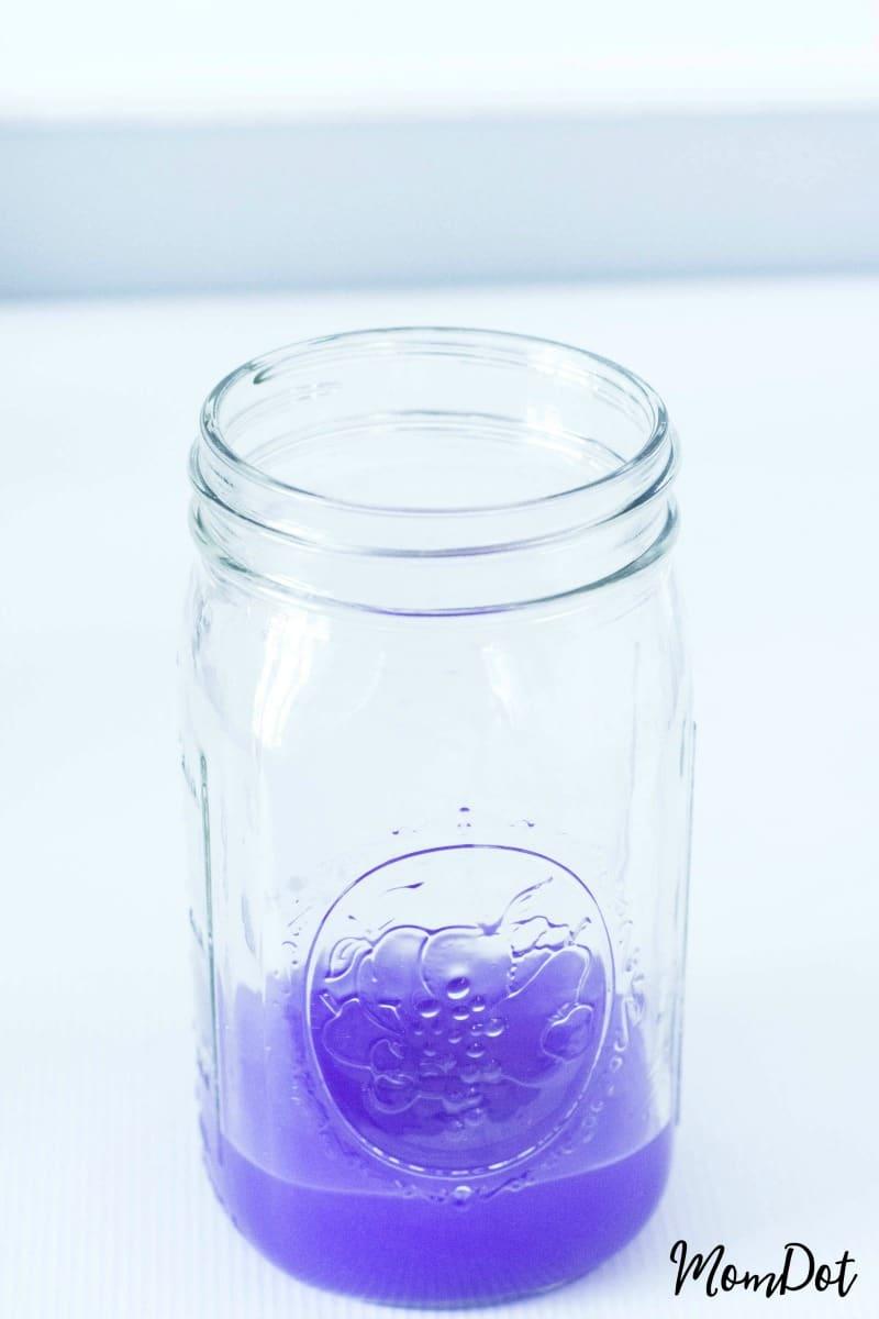 How to make a Rainbow Jar (like Nebula Jar) in a Mason Jar, FUN DIY, step by step tutorial to create your own at home rainbow MomDot.com