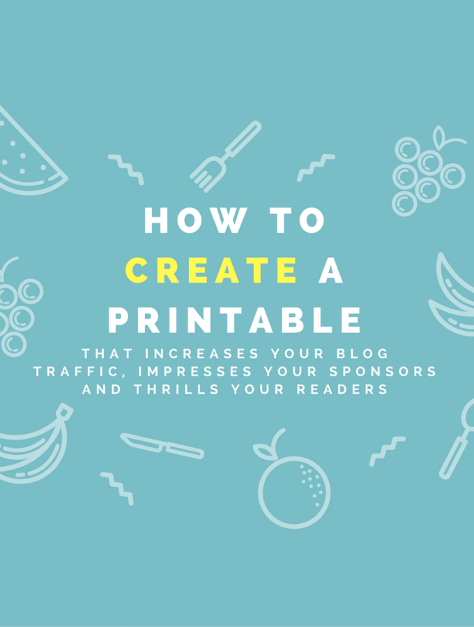 How to make a printable - Step by step tutorial on how to make a professional printable for bloggers, direct sales advertising, entrepreneurs, and etsy sales - learn how to make a printable that will help you advertise your business, impress sponsors and thrill your readers