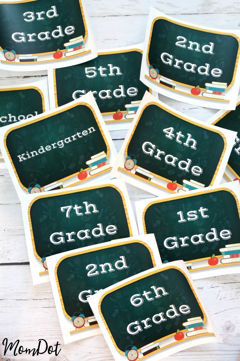 First day of school printable sign, FREE PRINTABLE 2016