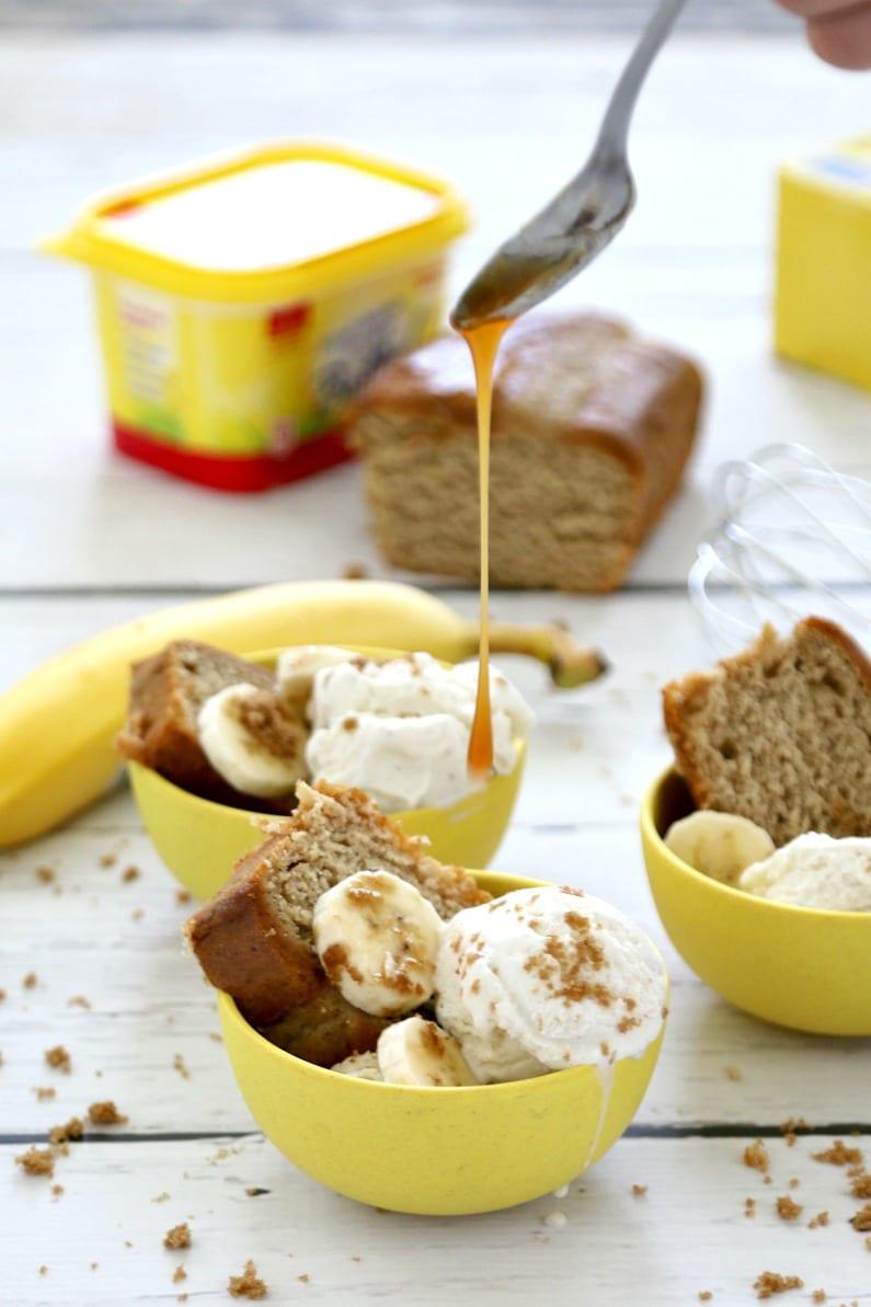 Banana Bread Split Snack