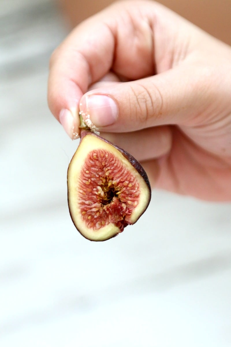 Spice Roasted Figs with Hazelnuts and Vanilla Ice Cream recipe, an old favorite with a new twist