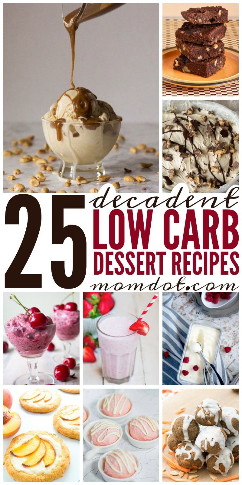 25 Decadent Low Carb Desserts  and recipes that you can make (and stay fit with!) today